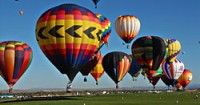 Up and away: Colorful balloons in the heavens