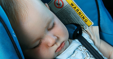 Be sure to read warning labels on child seats
